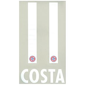 Costa 11 - Bayern Munich Home KIDS Official Name & Number 2016 / 2017