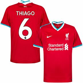 20-21 Liverpool Home Shirt + Thiago 6 (Premier League)