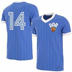 1985 DDR Home Retro Shirt + No.14 (Retro Flock Printing)