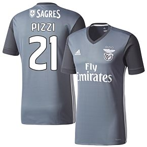 adidas Benfica Away Pizzi 21 Jersey 2016-2017 (Fan Style Printing)