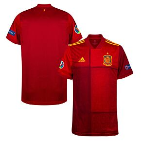 20-21 Spain Home Shirt + Euro 2020 + Respect Patches
