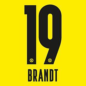 Brandt 19 - 20-21 Borussia Dortmund Home (Official Printing)