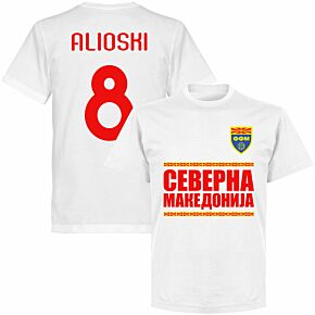 North Macedonia Alioshi 8 Team T-shirt - White