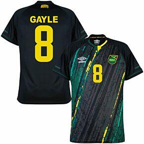 21-22 Jamaica Away Shirt + Gayle 8 (Fan Style Printing)