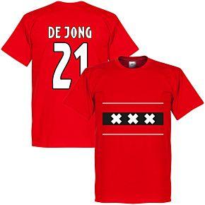 Amsterdam Team De Jong 21 Tee - Red