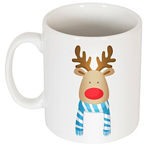 Reindeer Supporters Mug - Sky/White