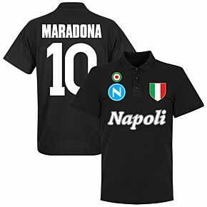 Napoli Maradona 10 Team Polo - Black