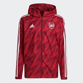 21-22 Arsenal Windbreaker Jacket - Red