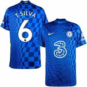 21-22 Chelsea Home Shirt + T. Silva 6 (Premier League)