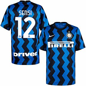 20-21 Inter Milan Home Shirt + Sensi 12 (Official Printing)