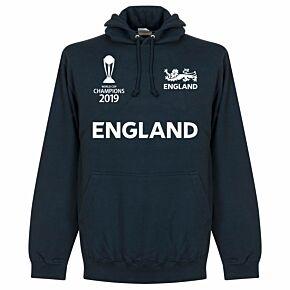 England Cricket World Cup  Winners Hoodie - Navy