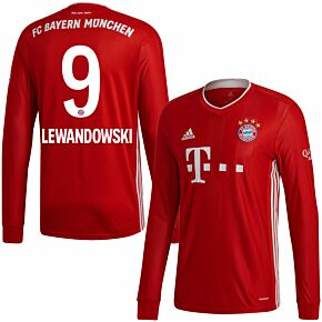 20-21 Bayern Munich Home L/S Shirt + Lewandowski 9