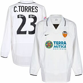 Nike Valencia 2002-2003 Home L/S C.Torres 23 Players Shirt (NEW) - Size L