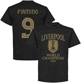 Liverpool World Club Champions 2019 Firmino 9 T-shirt - Black
