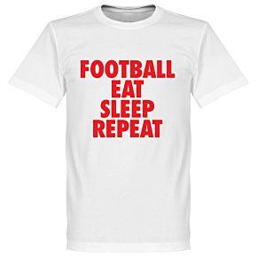 Football Addiction Tee - White/Red