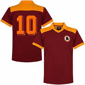1980 AS Roma Retro Shirt + No. 10 (Ancelotti)