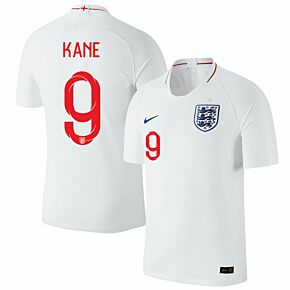 England Home Kane 9 Jersey 2018 / 2019 (Official Printing)