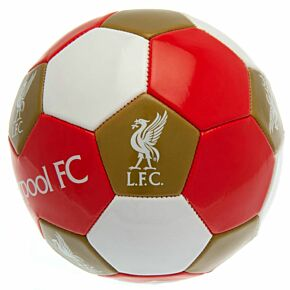 Liverpool Multi Crest Football - Red/White/Gold - (Size 3)
