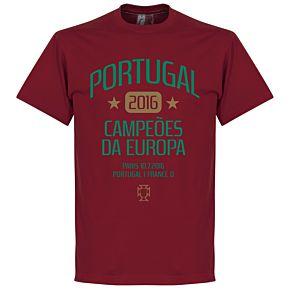 Portugal European Champions 2016 Tee - Deep Red