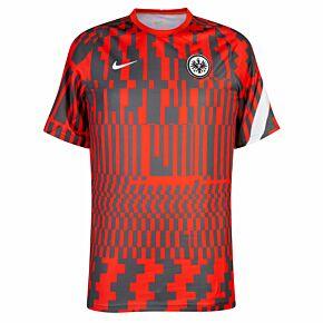 21-22 Eintracht Frankfurt Pre-Match Top - Red/Black