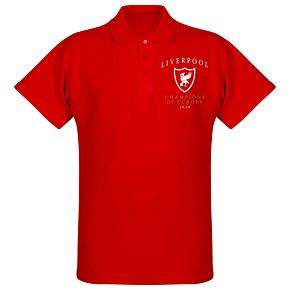 Liverpool Crest Champions of Europe Polo Shirt - Red