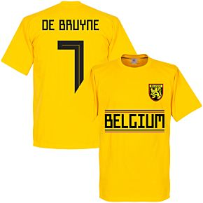 Belgium De Brunye 7 Team Tee - Yellow