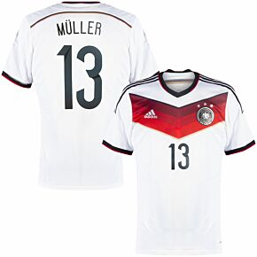 adidas Germany 2014-2015 Home Authentic Muller 13 Shirt - NEW Condition - Size S
