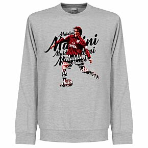 Maldini Script Sweatshirt - Grey Heather