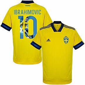 20-21 Sweden Home Shirt + Ibrahimovic 10 (Gallery Print)
