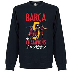 Barcelona Club World Cup 2015 Winners Sweatshirt - Navy
