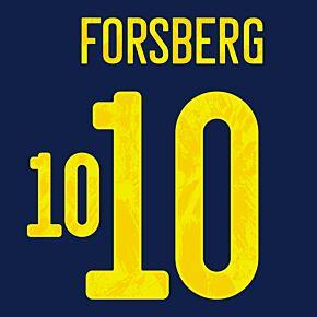 Forsberg 10 (Official Printing) - 21-22 Sweden Away