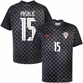 20-21 Croatia Away Shirt + Pašalić 15 (Official Printing)