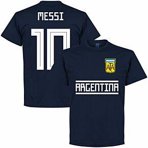 Argentina Messi 10 Team Tee - Navy