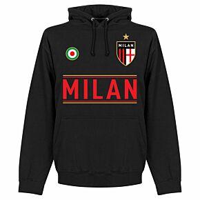 AC Milan Team Hoodie - Black