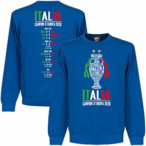 Italia Champions of Europe 2020 Road to Victory Sweatshirt - Royal
