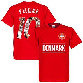 Denmark P. Elkjaer 10 Gallery Team Tee - Red