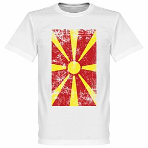 Macedonia Flag Tee - White