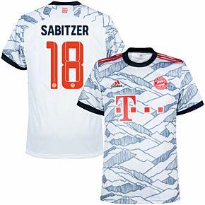 21-22 Bayern Munich 3rd Shirt + Sabitzer 18 (Official Printing)