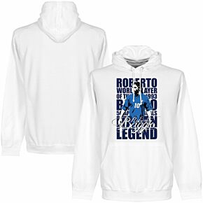 Roberto Baggio Legend Hoodie - White