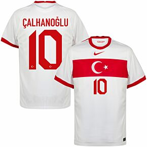20-21 Turkey Home Shirt + Çalhanoğlu 10 (Official Printing)