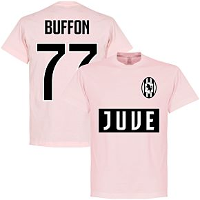Juve Buffon 77 Team T-shirt - Pale Pink