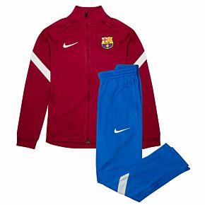 21-22 Barcelona Strike Tracksuit - Red/Blue - Kids