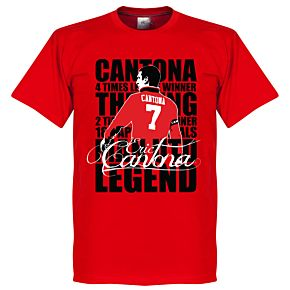 Eric Cantona Legend KIDS Tee - Red