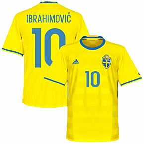 Sweden Home Ibrahimovic 10 Jersey 2016 2017 (Fan Style Printing)