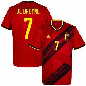 20-21 Belgium Home Shirt + De Bruyne 7