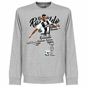 Ronaldo Script Sweatshirt -  Grey