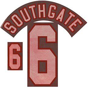 Southgate 6 - 96-97 England Away Dual-flock Print