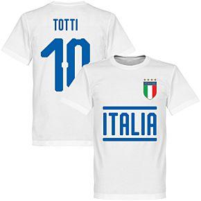 Italy Totti 10 Team Tee - White