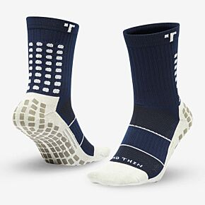 Trusox Mid-Calf Thin 2.0 Professional Socks - Navy/White