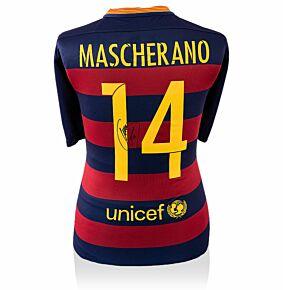Javier Mascherano Signed 2015-2016 Barcelona Home Jersey (Back Signed)